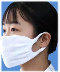 靴下工場で作ったマスク